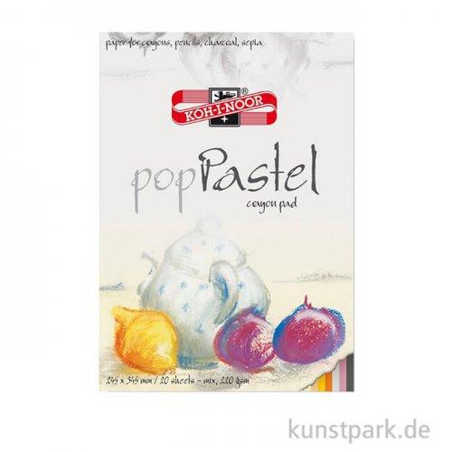 Koh-I-Noor - Pop Pastel, 20 Blatt, 5 Farben, 220g DIN A3