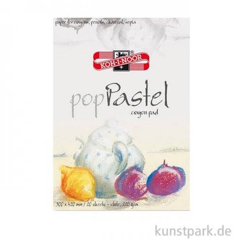 Koh-I-Noor - Pop Pastel Papier, 20 Blatt Weiß, 220g