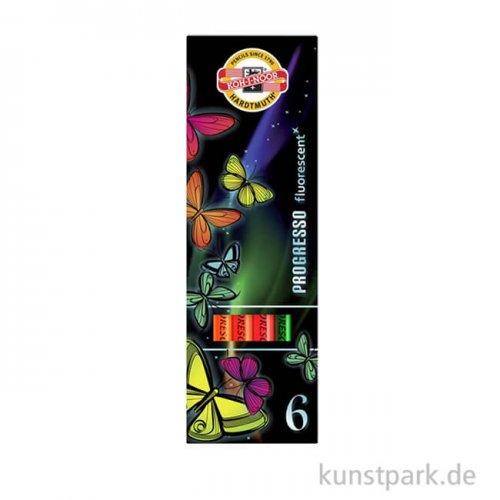 Koh-I-Noor Progresso Fluorescent, 6 Stifte sortiert