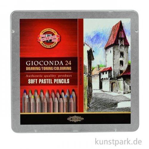 Koh-I-Noor Soft-Pastell Kreidestifte, 24 Stifte im Metalletui