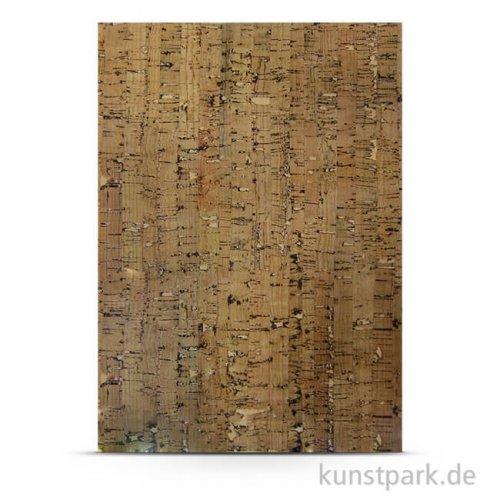Kork-Papier - Streifen, 20,5x28 cm, 1 Bogen, selbstklebend