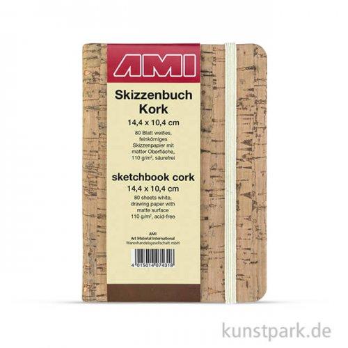 KORK Skizzenbuch, 80 Blatt, 110 g DIN A6