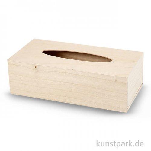 Kosmetiktuch-Box aus Holz, 27x14x8 cm
