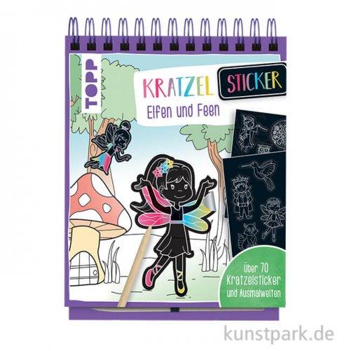 Kratzel-Stickerbuch - Elfen, Topp Verlag