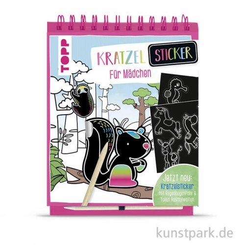 Kratzel-Stickerbuch - Mädchen, Topp Verlag