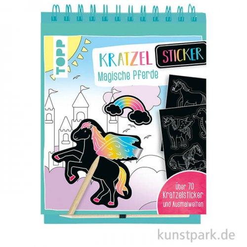 Kratzel-Stickerbuch - Magische Pferde, Topp Verlag