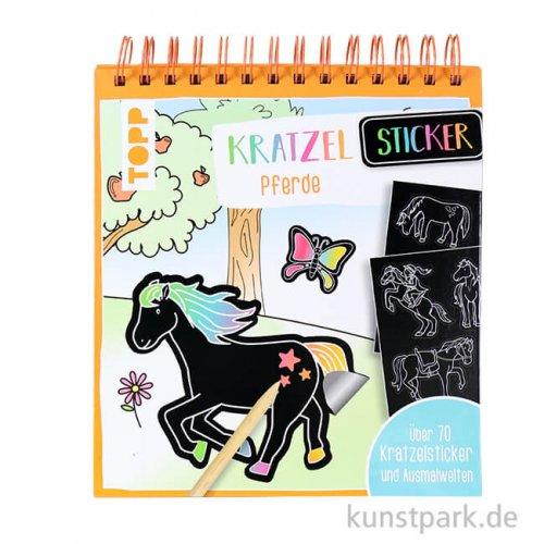 Kratzel-Stickerbuch - Pferde, Topp Verlag