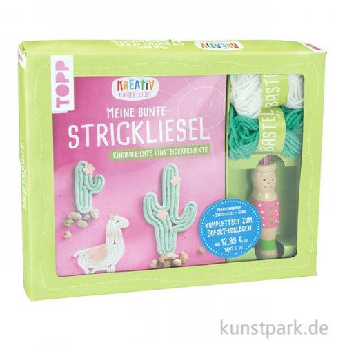 Kreativ-Set - Meine bunte Strickliesel, Topp Verlag