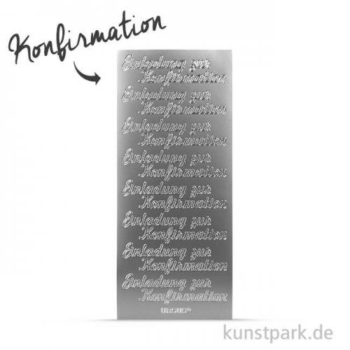 Kreativ Sticker - Konfirmation, silber, 5 Bögen