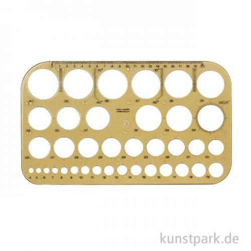 Koh-I-Noor Kreisschablone mit Kreisdurchmessern von 4 bis 40 mm