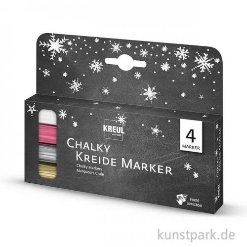 KREUL Chalky Kreidemarker 4er Set Winter