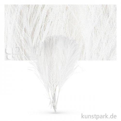 Künstliche Flauschfedern, 10 Stück Einzelfarbe   Weiß
