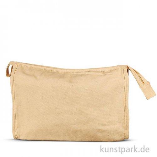 Kulturtasche aus Baumwolle - Natur, 28x17x10 cm, 1 Stück