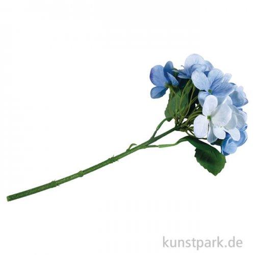 Kunstblume hellblaue Hortensie, Länge 33 cm