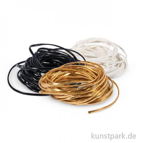 Kunstlederband flach, 2 mm, 5 m