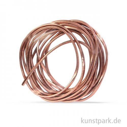 Kunstlederband Metallic flach 3 mm, 2 m Roségold