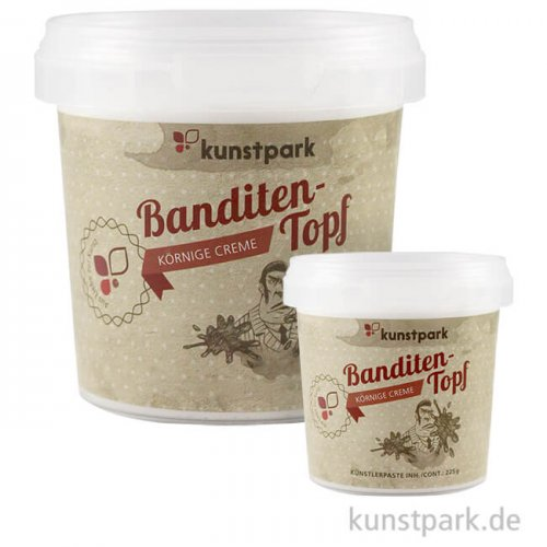 Strukturpaste - Banditentopf - körnige Creme