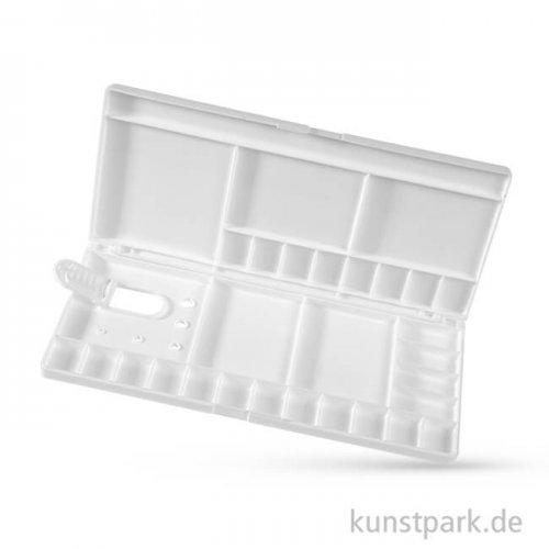 Kunststoff Klapppalette mit 29 Näpfchen und Pinselfach