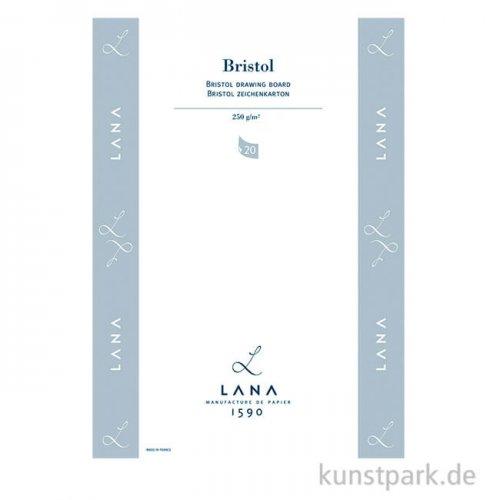 Lana BRISTOL Zeichenpapier, 25 Einzelbogen, 250g, 50 x 65 cm