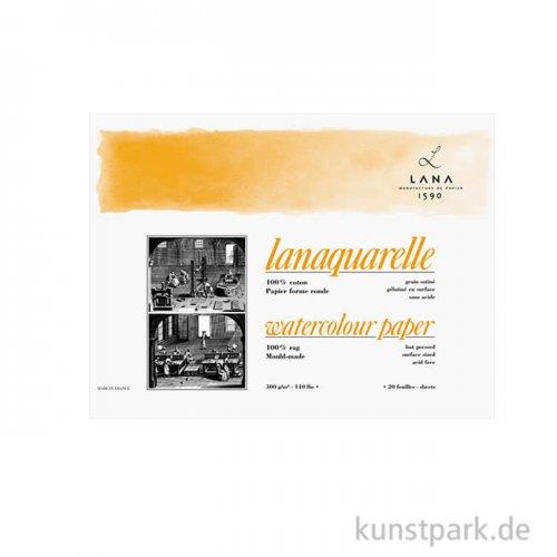 Lanaquarelle 20 Blatt, 300g, satiniert 23 x 31 cm