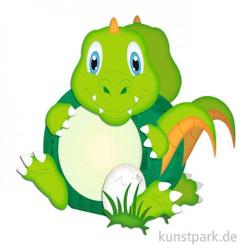 Laternen-Bastelset Easy Line - Dino mit umfangreichem Zubehör