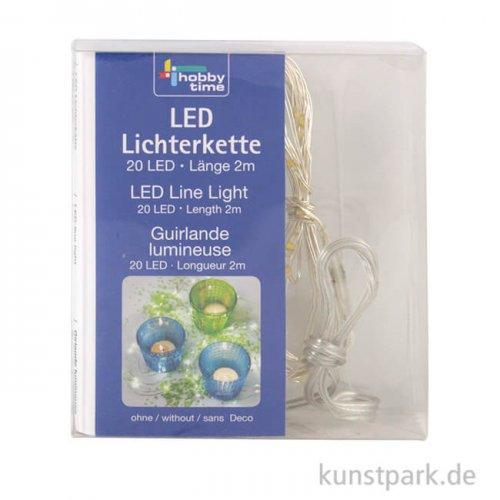 LED-Lichterkette mit 20 Lampen, 2 Meter