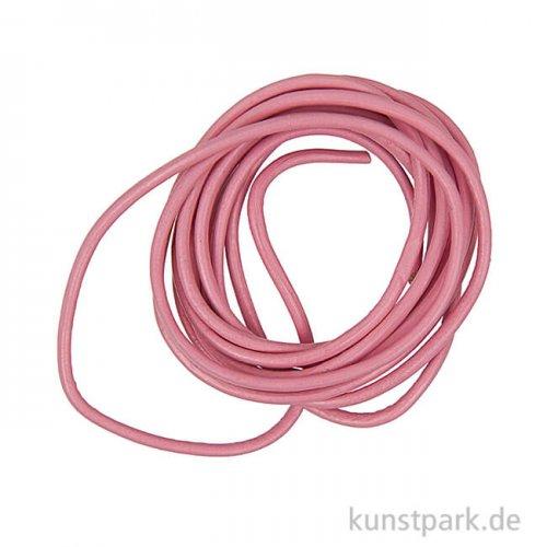 Lederband - Pink, 1,5mm x 1m