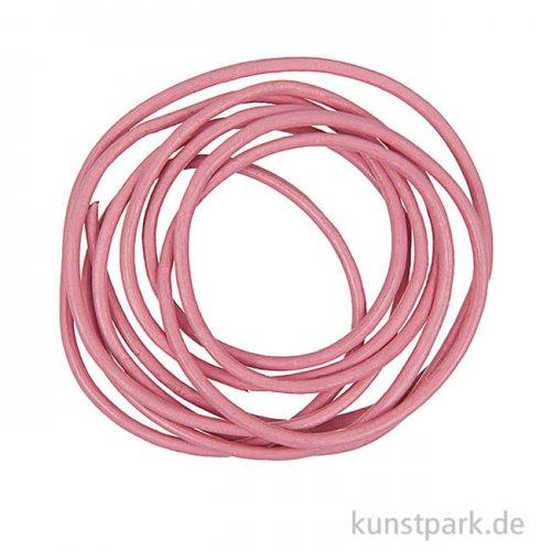 Lederband - Pink, 2mm x 1m