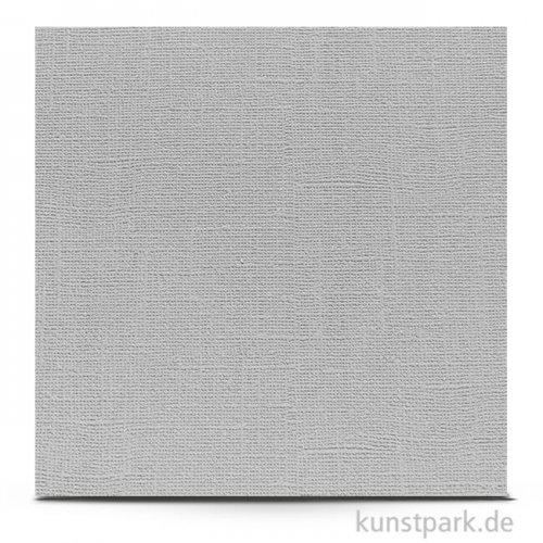 Leinenstruktur - Scrapbookingpapier, 216 g 30,5 x 30,5 cm   Mausgrau