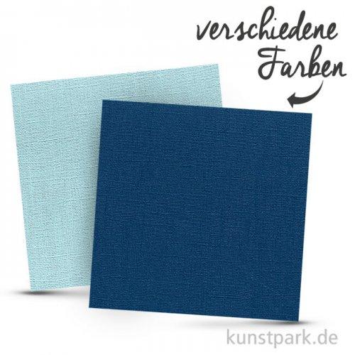 Leinenstruktur - Scrapbookingpapier, 216 g
