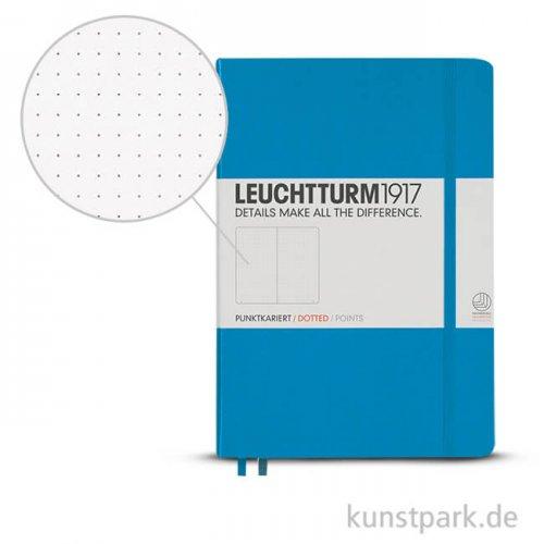 Leuchtturm Notizbuch Hardcover - Azur - Dotted