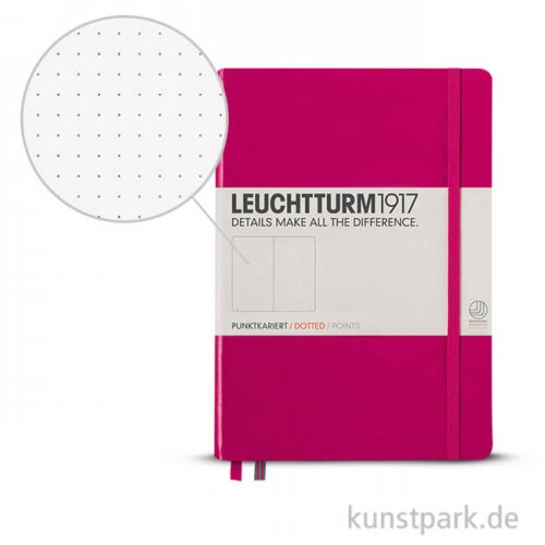 Leuchtturm Notizbuch Hardcover - Beere - Dotted