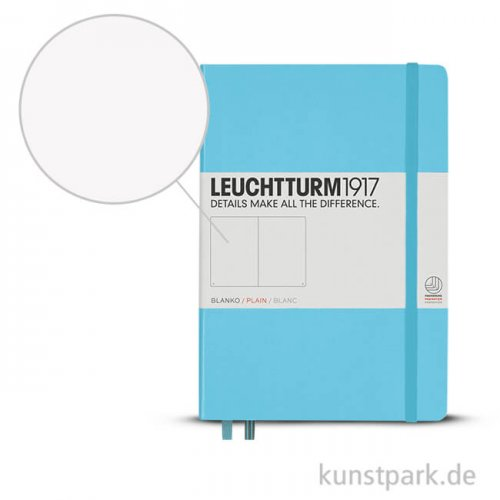 Leuchtturm Notizbuch Hardcover - Eisblau - Blanko