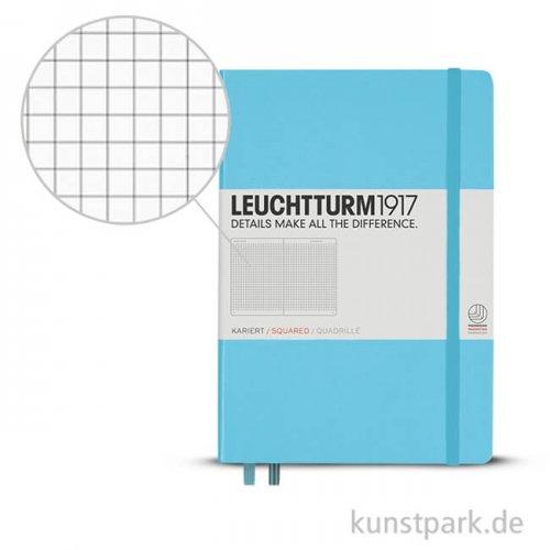 Leuchtturm Notizbuch Hardcover - Eisblau - Kariert