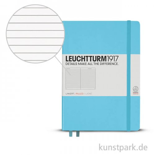 Leuchtturm Notizbuch Hardcover - Eisblau - Liniert