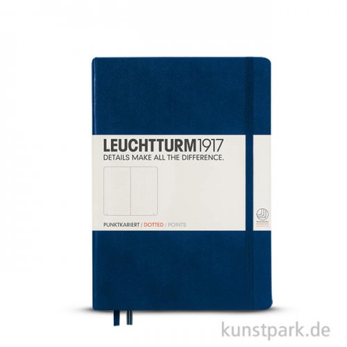 Leuchtturm Notizbuch Hardcover - Marine - Dotted Medium A5 - 249 Seiten