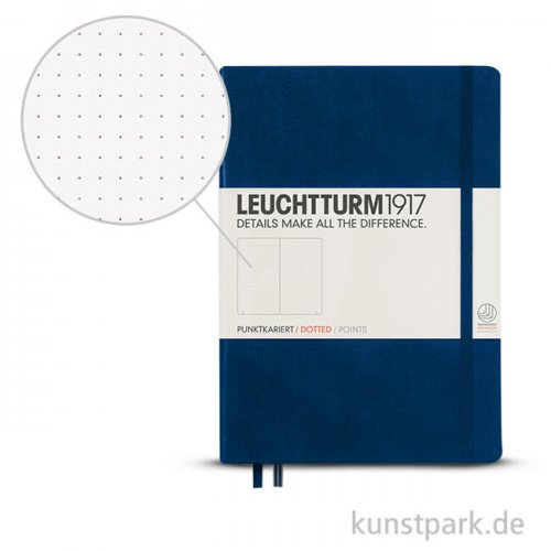 Leuchtturm Notizbuch Hardcover - Marine - Dotted