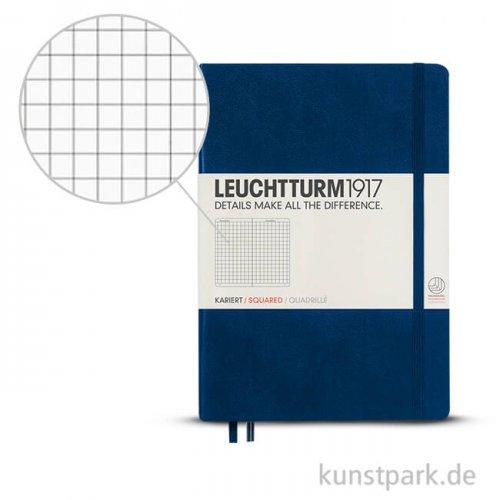 Leuchtturm Notizbuch Hardcover - Marine - Kariert