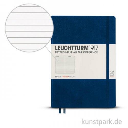 Leuchtturm Notizbuch Hardcover - Marine - Liniert