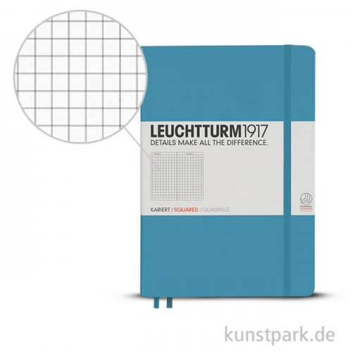 Leuchtturm Notizbuch Hardcover - Nordic Blue - Kariert