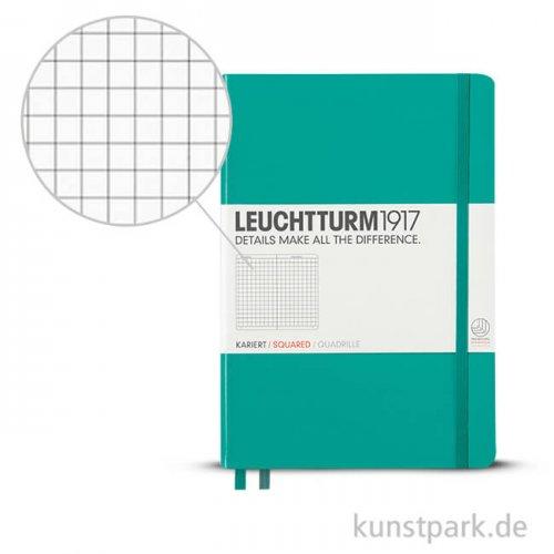 Leuchtturm Notizbuch Hardcover - Smaragd - Kariert
