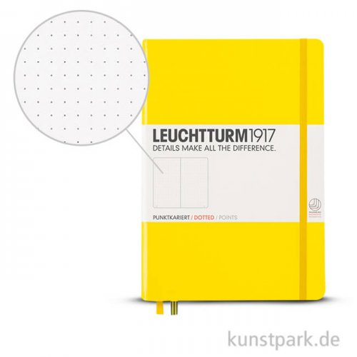 Leuchtturm Notizbuch Hardcover - Zitrone - Dotted