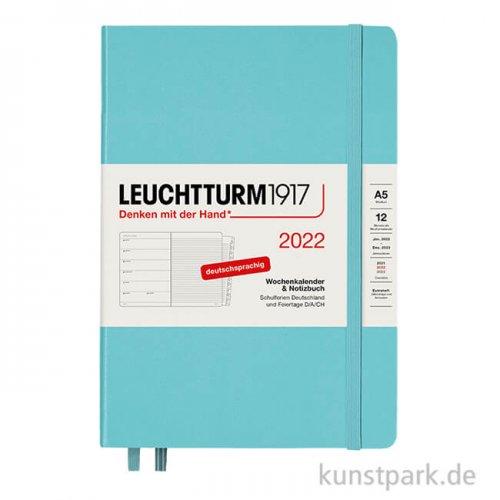 Leuchtturm Wochenkalender & Notizbuch 2022 - Aquamarine