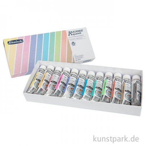 LIMITIERT Schmincke AKADEMIE Aquarell ICY COLOURS - 12 x 15 ml Tube