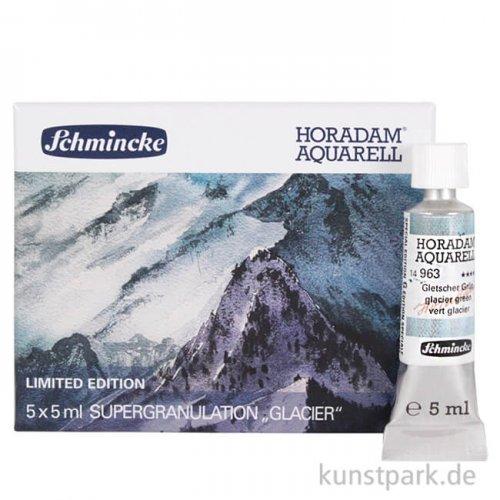 LIMITIERT Schmincke Horadam Aquarell Supergranulierend Gletscher - Set 5 x 5 ml