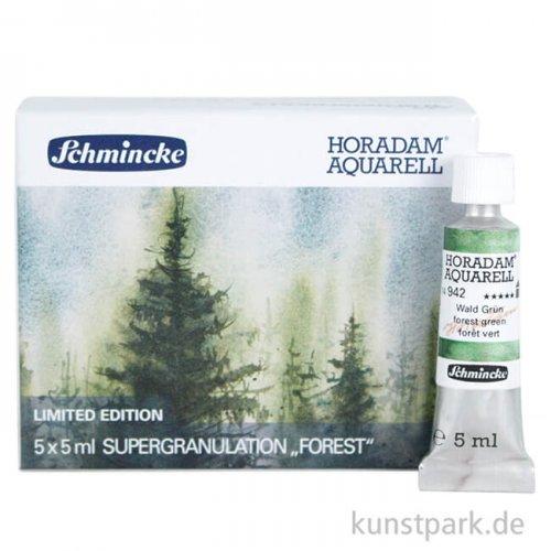 LIMITIERT Schmincke Horadam Aquarell Supergranulierend Wald - Set 5 x 5 ml