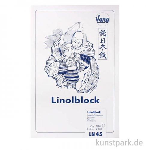 Linolblock - Japanpapier, 20 Blatt, 45g 31 x 46 cm