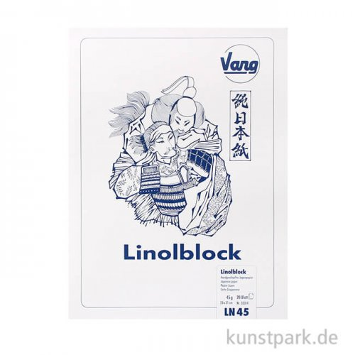 Linolblock - Japanpapier, 20 Blatt, 45g