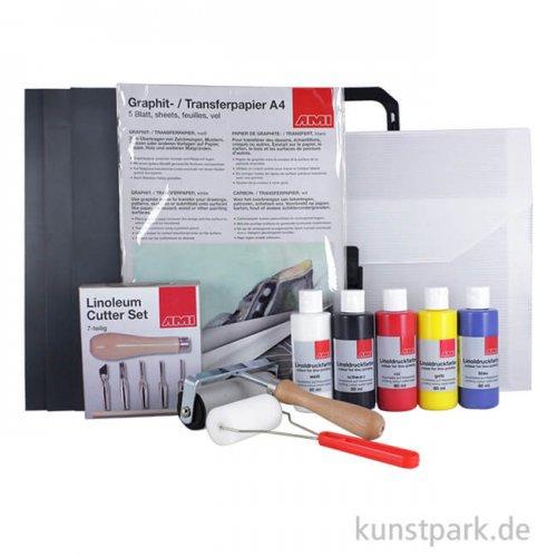 Linoldruck Starter Set im Kunststoffkoffer
