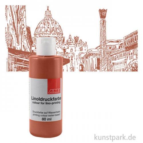 Linoldruckfarbe Basic 80 ml Einzelfarbe | braun